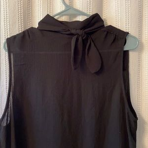Sleeveless Tie Neck Blouse